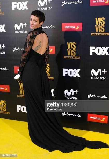 Irene Anula attends the premiere of 'Vis a Vis' at Capitol Cinema on April 19, 2018 in Madrid, Spain.