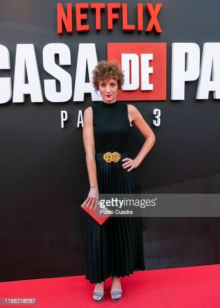Irene Anula attends the red carpet of 'La Casa De Papel' 3rd Season by Netflix on July 11, 2019 in Madrid, Spain.