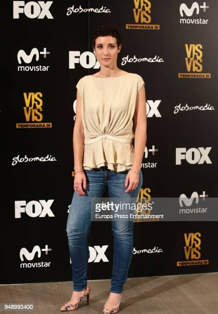 Irene Anula attends the 'Vis A Vis' photocall at VP Plaza de Espana Hotel on April 19 2018 in Madrid Spain