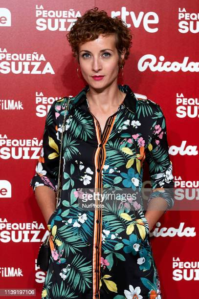 """Irene Anula attends to """"La Pequena Suiza"""" premiere at Capitol Cinema on April 24, 2019 in Madrid, Spain."""