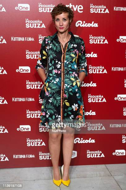 Irene Anula attends to quotLa Pequena Suizaquot premiere at Capitol Cinema on April 24 2019 in Madrid Spain