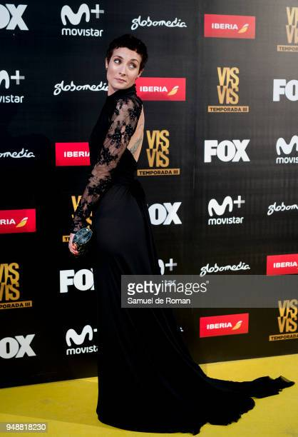 Irene Anula attends 'Vis A Vis' Madrid Premiere on April 19 2018 in Madrid Spain
