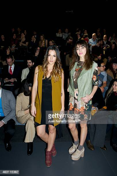 Irene Arcos and Michelle Calvo are seen attending the catwalks during Madrid Fashion Week Fall/Winter 2015/16 at Ifema on February 10 2015 in Madrid...