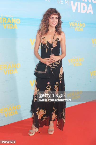 Irene Arcos attends 'El Mejor Verano De Mi Vida' premiere on July 9 2018 in Madrid Spain