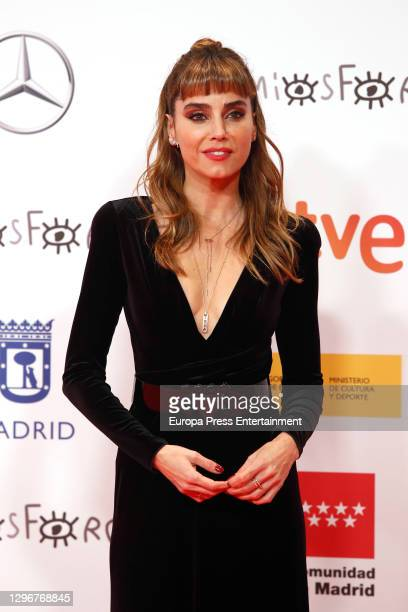 Irene Arcos attends 'Jose Maria Forque Awards' 2021 red carpet at IFEMA on January 16, 2021 in Madrid, Spain.