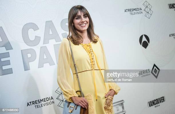 Irene Arcos attends 'La Casa de Papel' Madrid Premiere on April 24 2017 in Madrid Spain