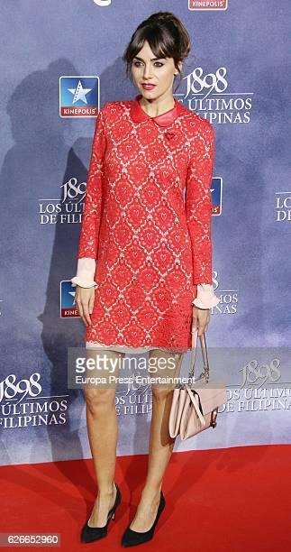 Irene Arcos attends the '1898 Los Ultimos De Filipinas' premiere at Kinepolis cinema on November 29 2016 in Madrid Spain