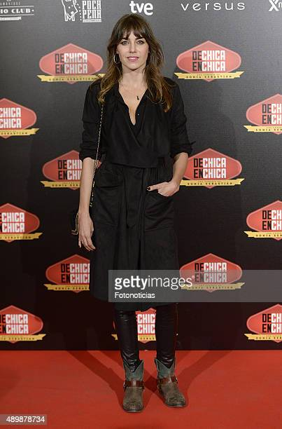 Irene Arcos attends the 'De Chica en Chica' Premiere at Palafox Cinema on September 24 2015 in Madrid Spain