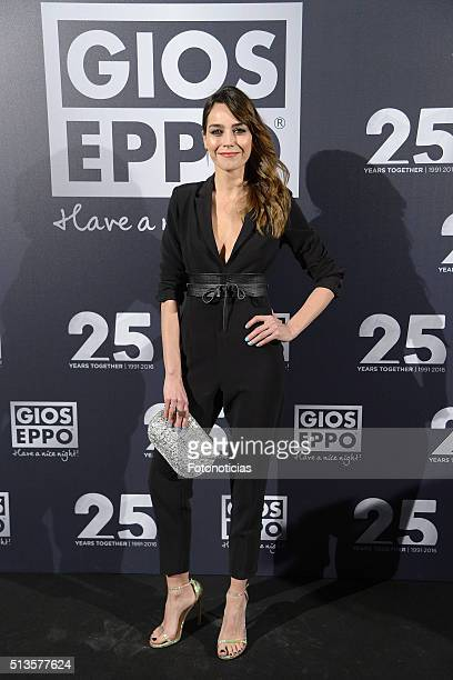 Irene Arcos attends the 'Gioseppo' 25th Anniversary Party at Callao Cinema on March 3 2016 in Madrid Spain