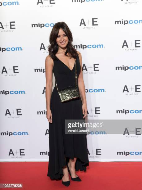 Irene Arcos attends the opening ceremony red carpet of the MIPCOM 2018 on October 15 2018 in Cannes France