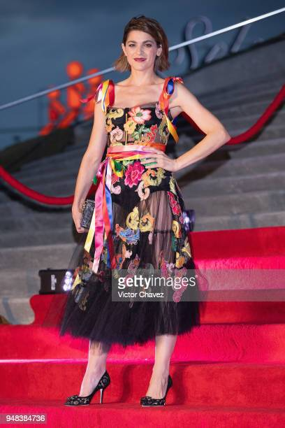 Irene Azuela attends the Dolce Gabbana Alta Moda and Alta Sartoria collections fashion show at Soumaya Museum on April 18 2018 in Mexico City Mexico