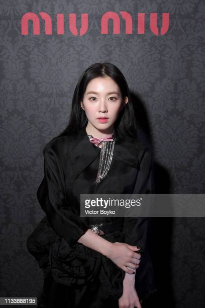 Irene Bae attends the Miu Miu dinner and aftershow party at Raspoutine Club as part of the Paris Fashion Week Womenswear Fall/Winter 2019/2020 on...