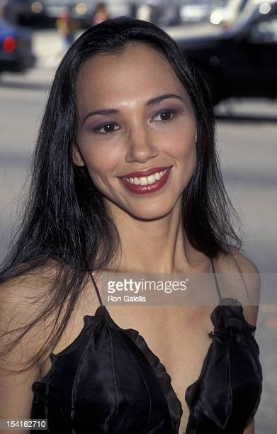Irene Bedard attends the premiere of 'Pocahontas' on June 11 1995 at the El Capitan Theater in Hollywood California