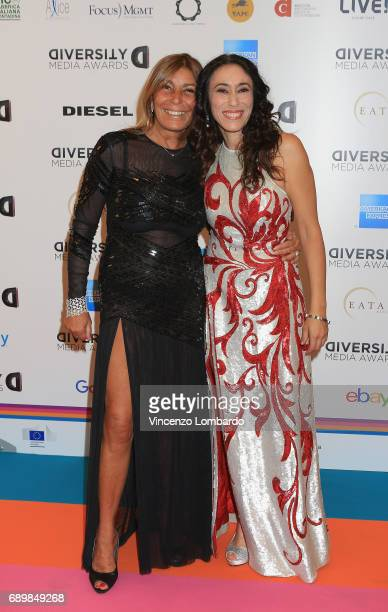Irene Bozzi and Francesca Vecchioni attend Diversity Media Awards Charity Gala Dinner on May 29 2017 in Milan Italy
