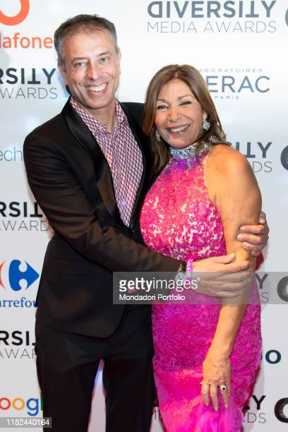 Irene Bozzi and italian writer screenwriter and director Ivan Cotroneo during the Awards ceremony for the Diversity Media Awards 2019 a human rapsody...