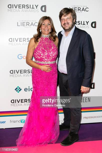 Irene Bozzi and Pierfrancesco Majorino attend the Diversity Media Awards 2019 at Alcatraz on May 28 2019 in Milan Italy