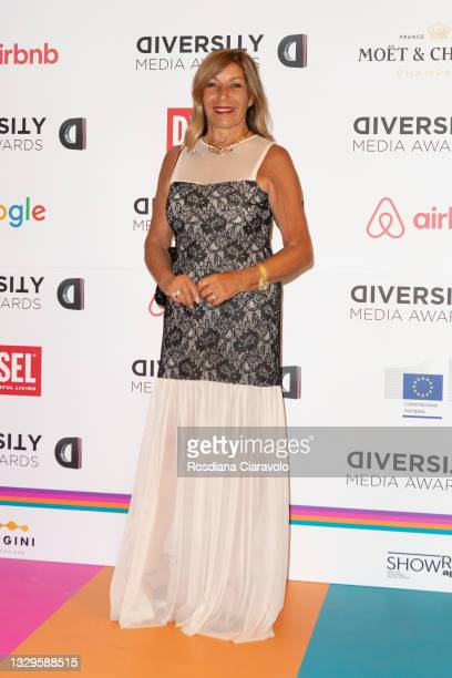 Irene Bozzi attends the Diversity Media Awards 2021 red carpet at Teatro Franco Parenti on July 19, 2021 in Milan, Italy.