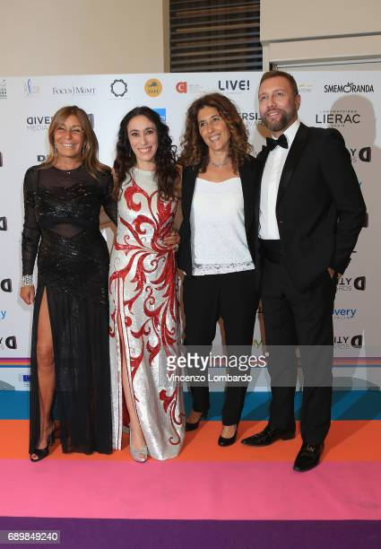 Irene Bozzi Francesca Vecchioni Alesassandra Brogno and Emilio Sturno Furnò attend Diversity Media Awards Charity Gala Dinner on May 29 2017 in Milan...