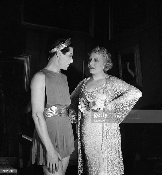 Irene Brillant and Serge Lifar Anna of Noailles official reception Paris FrenchComedy June 1937 LIP114360022
