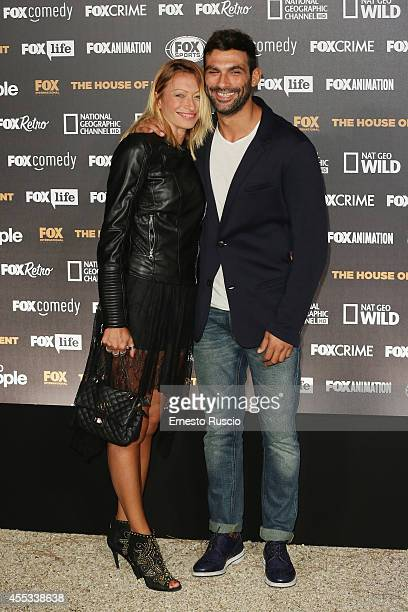 Irene Capuano and Francesco Arca attend the Fox International Channels Party at Villa Aurelia on September 12 2014 in Rome Italy