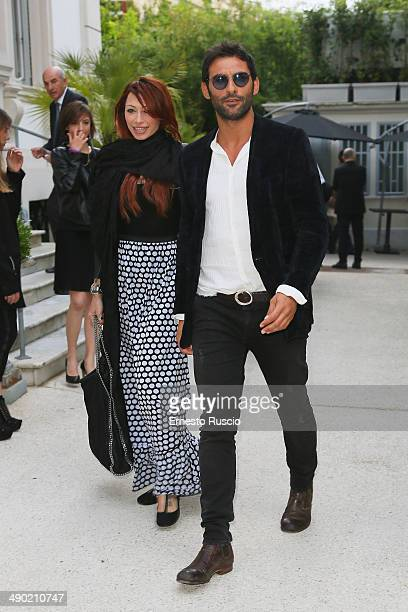 Irene Capuano and Francesco Arca attend the 'Love It' Campaign For Safe Sex party at Villa Laetitia on May 13 2014 in Rome Italy