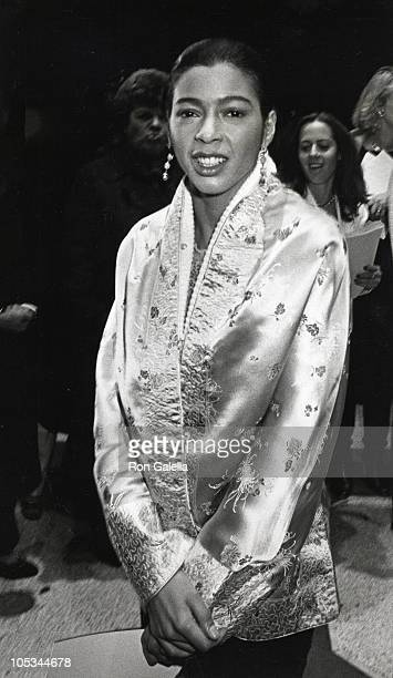Irene Cara during Times Square New York City Premiere at Ziegfield Theater in New York City New York United States