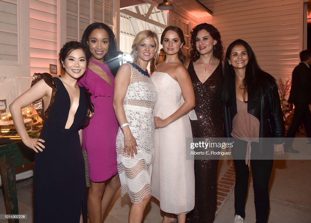 Irene Choi, Erinn Westbrook, Arden Myrin, Debby Ryan, Lauren Gussis and Bela Bajaria attend the after party for the Season 1 premiere of Netflix's 'Insatiable' on August 9, 2018 in Los Angeles, California.