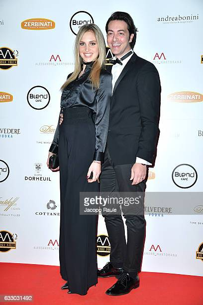 Irene Cioni and Alex Pacifico attend photocall for Alessandro Martorana party on January 29 2017 in Milan Italy