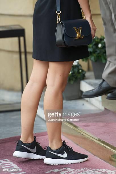Irene Escolar arrives at Hotel Maria Cristina on September 23 2015 in San Sebastian Spain