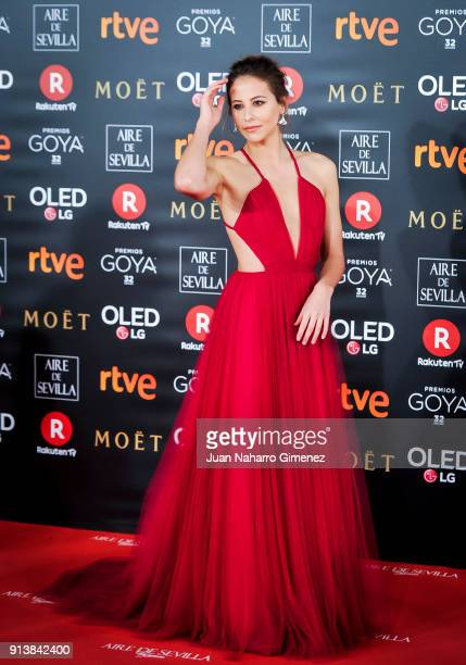 Irene Escolar attends Goya Cinema Awards 2018 at Madrid Marriott Auditorium on February 3 2018 in Madrid Spain
