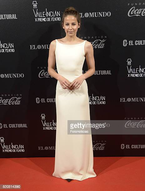 Irene Escolar attends the ValleInclan Theatre Awards at the Teatro Real on April 11 2016 in Madrid Spain