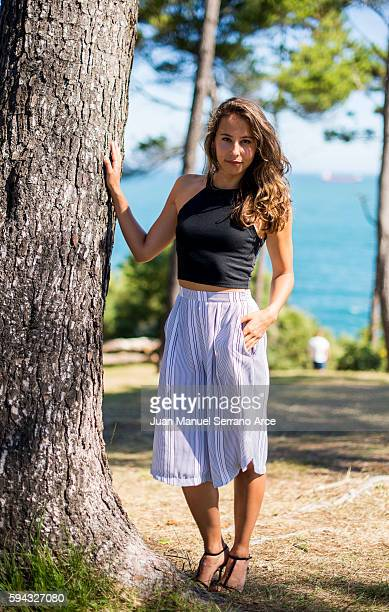 Irene Escolar poses for a photograph at the International Menendez Pelayo University on August 22 2016 in Santander Spain
