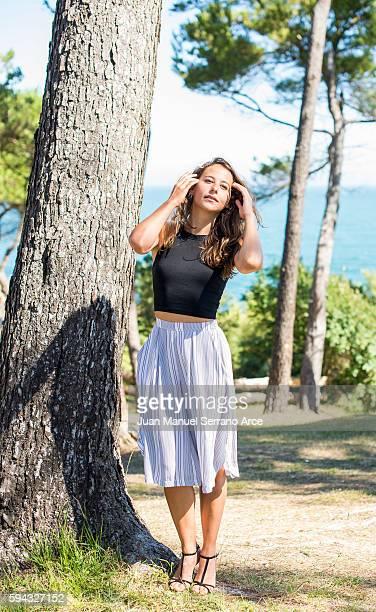 Irene Escolar poses for a photograph at the International Menendez Pelayo University on August 22 2016 in Santander Spain