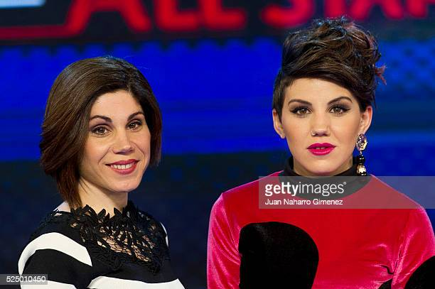 Irene Fernandez and Angy Fernandez attend 'Levantate All Star' photocall at Estudias Picasso on April 27 2016 in Madrid