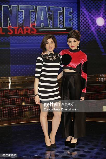 Irene Fernandez and Angy Fernandez attend 'Levantate All Star' photocall on April 2