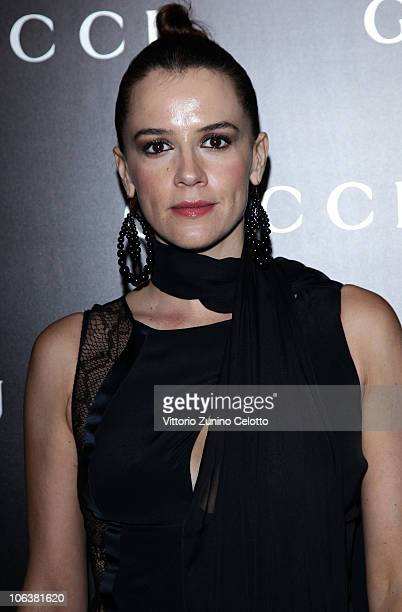 Irene Ferri attend the World Restoration Premiere Of La Dolce Vita Dinner Hosted by Gucci at the Hotel Cavalieri Hilton on October 30 2010 in Rome...