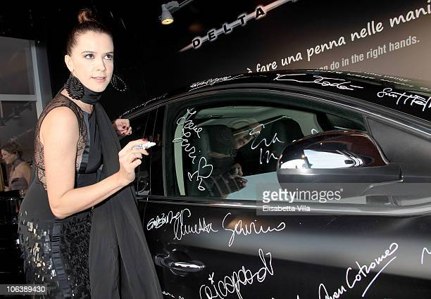 Irene Ferri attends La Dolce Vita Cocktail Party at the Lancia Cafe during the 5th Rome International Film Festival on October 30 2010 in Rome Italy