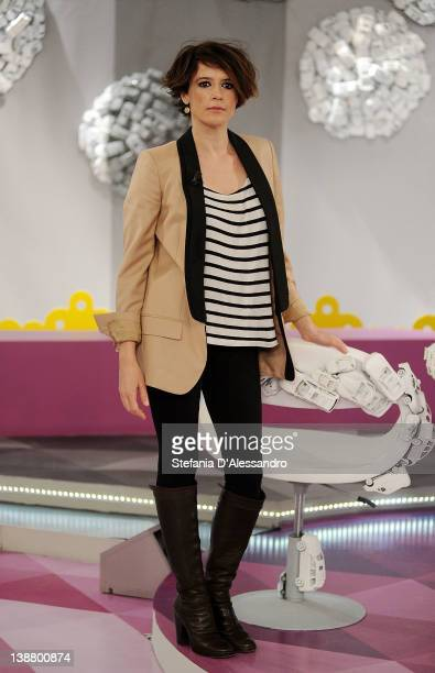 Irene Ferri attends Mamma Mia Italian TV Show on February 12 2012 in Milan Italy