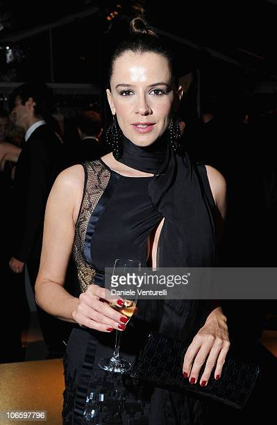 Irene Ferri attends the World Restoration Premiere Of La Dolce Vita Dinner Hosted by Gucci at the Hotel Cavalieri Hilton on October 30 2010 in Rome...