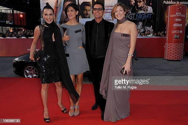Irene Ferri Giulia Bevilacqua Simone Corrente and Sarah Felberbaum attends the 'La Dolce Vita' premiere during the 5th Rome International Film...