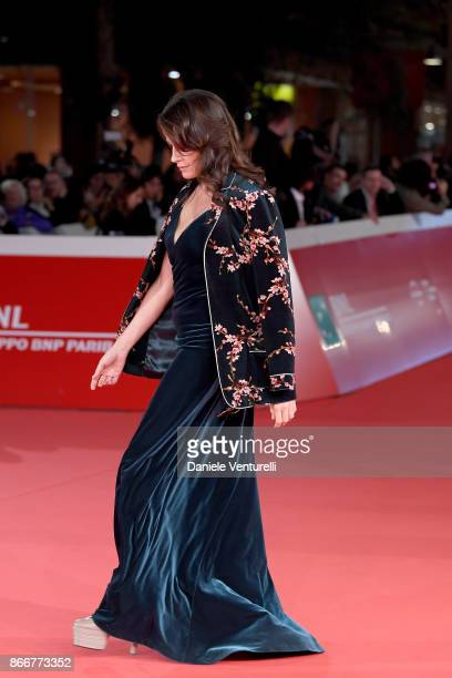 Irene Ferri walks a red carpet for Hostiles during the 12th Rome Film Fest at Auditorium Parco Della Musica on October 26 2017 in Rome Italy