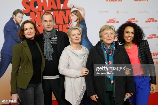 Irene Fischer Georg Uecker Andrea Spatzek MarieLuise Marjan and Dunja Dogmani attend 'Schatz Nimm Du sie' German movie premiere at Cineplex Cologne...