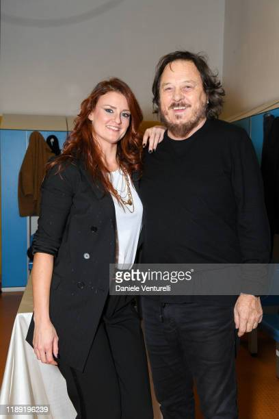 Irene Fornaciari and Zucchero attend the 60th Birthday Concert of Andrea Griminelli on November 20 2019 in Reggio nell'Emilia Italy