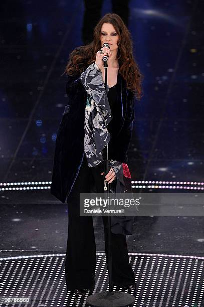 Irene Fornaciari attends the 60th Sanremo Song Festival at the Ariston Theatre On February 16 2010 in San Remo Italy