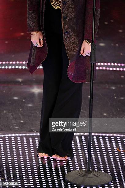 Irene Fornaciari attends the 60th Sanremo Song Festival at the Ariston Theatre On February 17 2010 in San Remo Italy