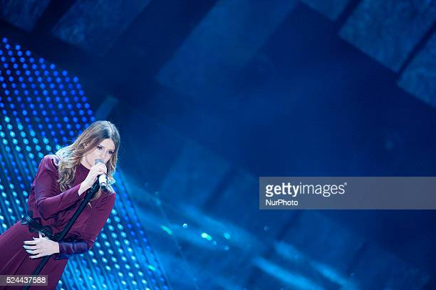 Irene Fornaciari attends the 66th Sanremo Music Festival on February 12 2016