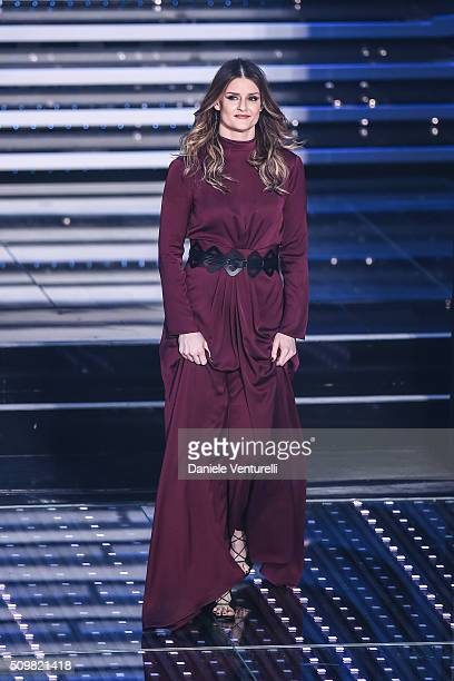 Irene Fornaciari attends the fourth night of the 66th Festival di Sanremo 2016 at Teatro Ariston on February 12 2016 in Sanremo Italy