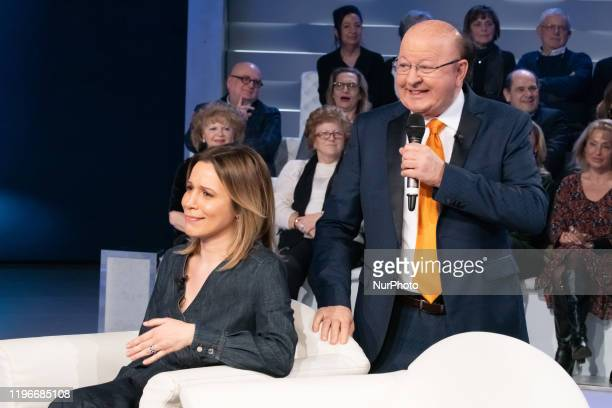 Irene Fornaciari Massimo Boldi during the TV show quotDomenica INquot in Rome Italy on January 26 2020