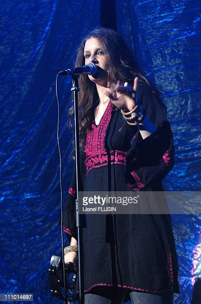 Irene Fornaciari performs at the arena in Geneva Switzerland on June 02nd 2007
