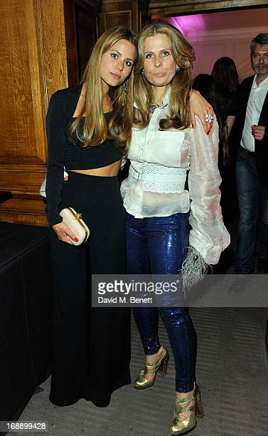 Irene Forte and Lady Aliai Forte attends the 175th Anniversary party of Brown's Hotel at Rocco Forte's Brown's Hotel on May 16 2013 in London United...